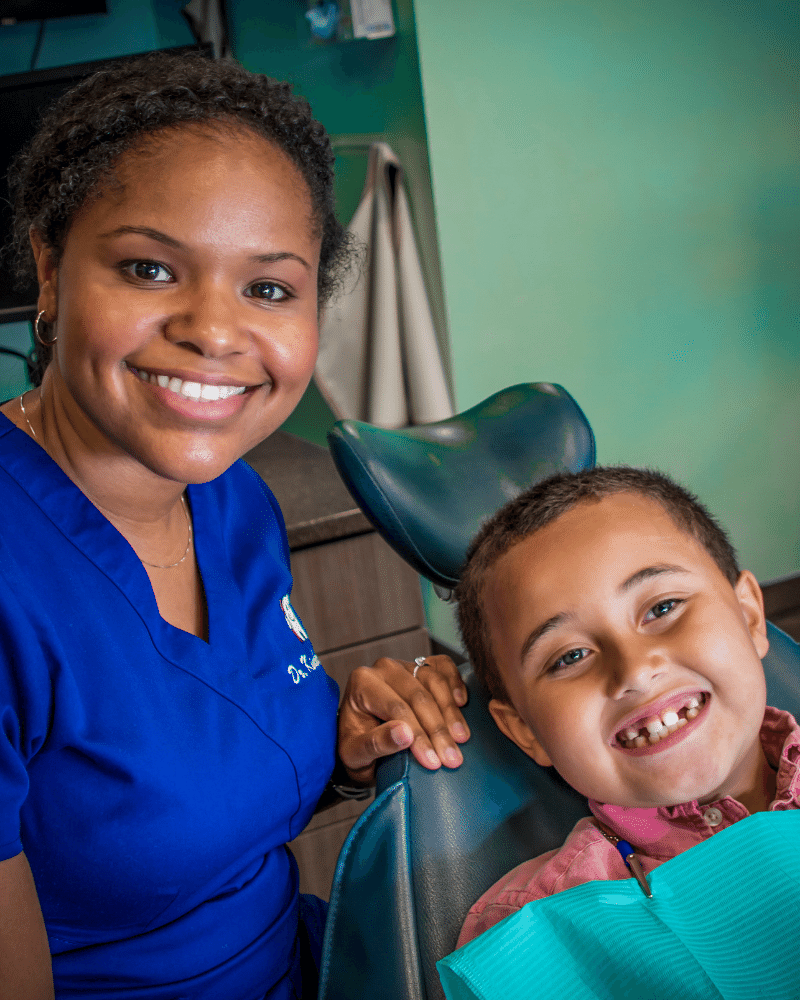 Dr. Grady and Happy Patient, Kids Dentist in Meridian, MS